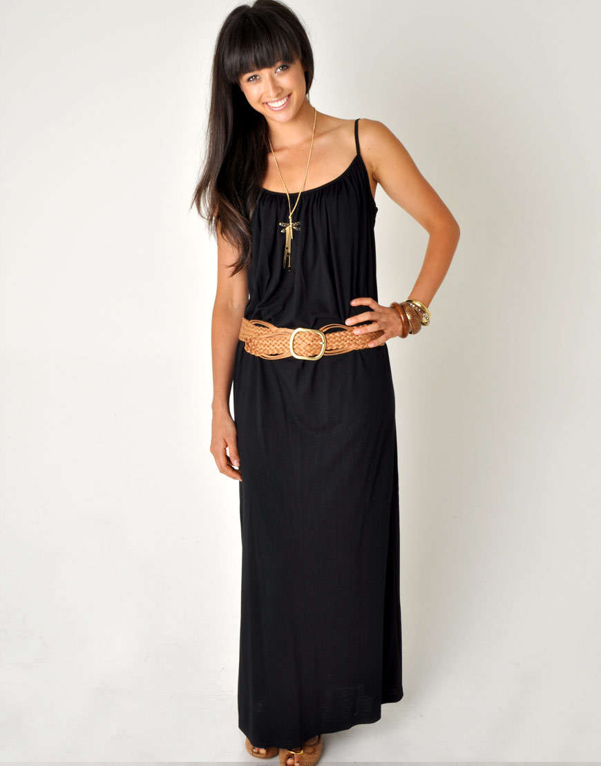 maxi black dress on Black Maxi Dress Hot Summer